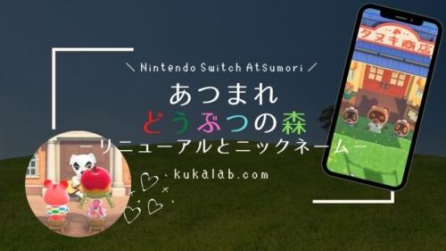 【あつ森プレイ日記】タヌキ商店・博物館リニューアルとニックネーム